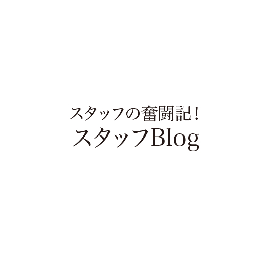 スタッフの奮闘記!スタッフBlog